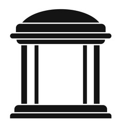 House gazebo icon simple style vector