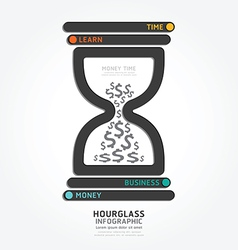 infographics hourglass design diagram vector image