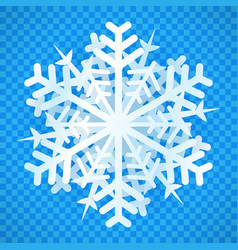 isolated snowflake with 3d effect design vector image