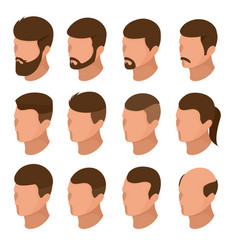 Isometric businessman or male person character vector