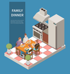 isometric family leisure playing composition vector image