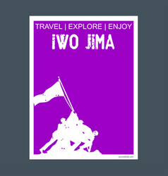 iwo jima usa monument landmark brochure flat vector image
