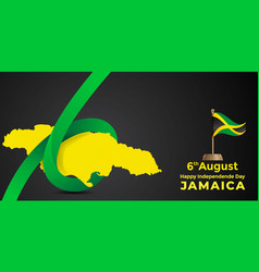 Jamaica independence day design vector