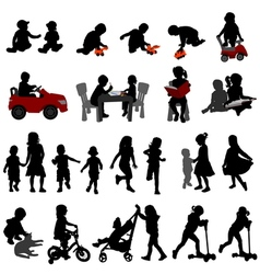 Kids and toddlers vector