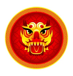 Lion mask symbol vector image