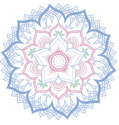 Lotus mandala in soft pastel colors vector