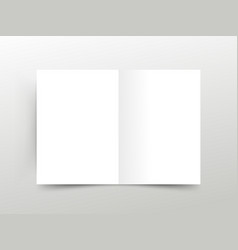 mock up booklet isolated opened vector image