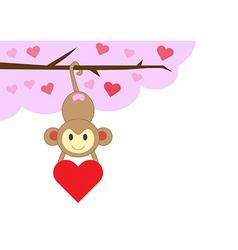 monkeyinlove vector image