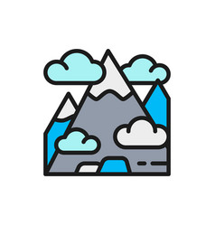 mountain mount hill travel tourism flat vector image