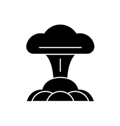 nuclear explosion black concept icon vector image