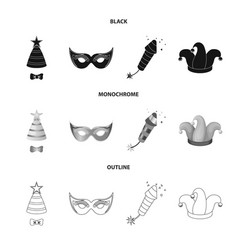 party and birthday symbol vector image