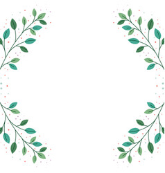 Pattern branch and leaf icon vector