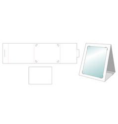 Photo frame die cut template vector