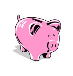 Pink Piggybank vector