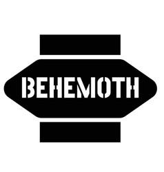 Print behemoth stamp on white vector