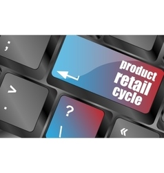 Product retail cycle key in place of enter key vector