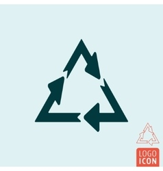 Recycle icon isolated vector
