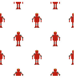 Red robot pattern seamless vector