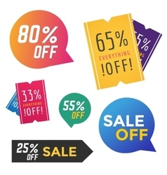 Sale Off tags label banner icons vector image
