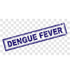 Scratched dengue fever rectangle stamp vector