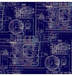 Seamless abstract pattern technology Luminous vector