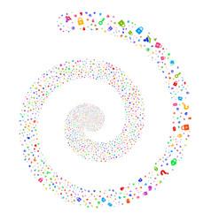 Secrecy symbols fireworks spiral vector