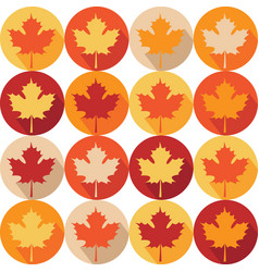 seemless pattern with autumn maple leaves vector image