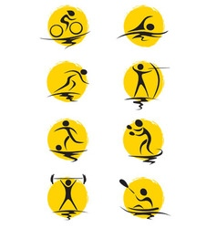Set - summer sports vector image