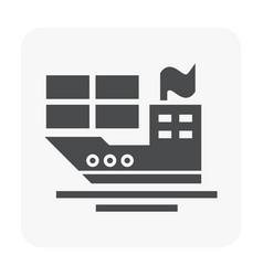shipping icon black vector image