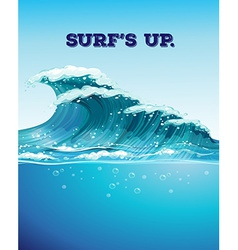 Surfing and waves vector image