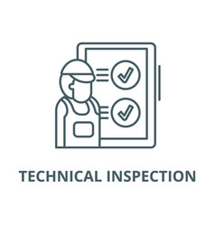 Technical inspection line icon linear vector
