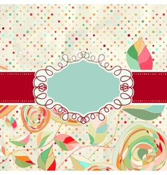 Vintage style background with flowers EPS 8 vector