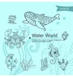 Water wordls vector