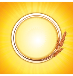 wheat border vector image