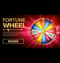 wheel of fortune gamble chance leisure vector image