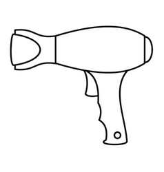 Woman hair dryer icon outline style vector