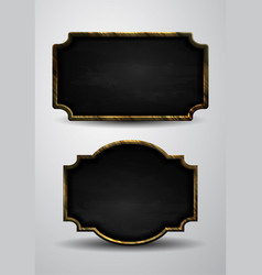 wooden frame chalkboard background vector image