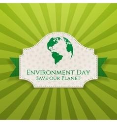World Environment Day festive Badge and Ribbon vector