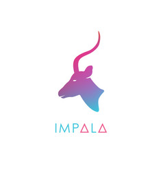 artistic stylized antelope logotype vector image vector image