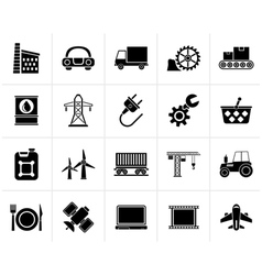 Black Business and industry icons vector image vector image