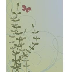 butterfly in garden vector image vector image