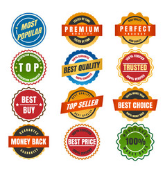 colorful round labels and stickers vector image vector image