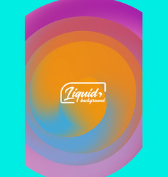 cover template with abstract liquid objects vector image