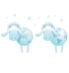 New Year sheep 2015 vector image vector image