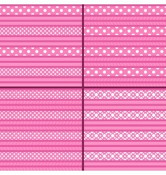 pink polka dot striped pattern vector image vector image