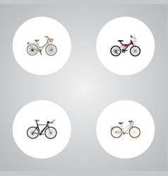 Realistic brand competition bicycle adolescent vector