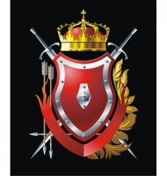 red shield vector image vector image