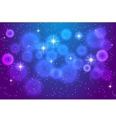 Abstract blue background with shining stars vector image vector image