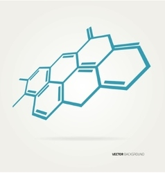 Abstract hexagons template vector image