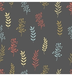 Hand drawn nature brunch seamless pattern vector image vector image
